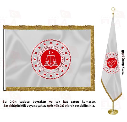 Adalet Bakanlığı Saten Makam Flaması