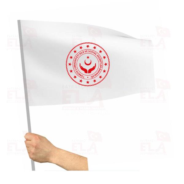 Aile ve Sosyal Hizmetler Bakanlığı Sopalı Bayrak ve Flamalar
